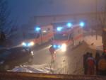 Verkehrsunfall B12 Bus gegen LKW 08.01.2011