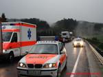 Der Rettungsdienst Stadler versorgte in Zusammenarbeit mit dem Notarzt aus Waldkirchen den verletzten PKW-Fahrer