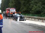 Titelbild des Albums: Verkehrsunfall Autobahnzubringer PKW gegen LKW mit eingeklemmter Person am 12.09.2008