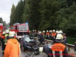 Viele Hilfskräfte von den Feuerwehren Hutthurm, München, Leoprechting und Neukirchen v. W. waren im Einsatz