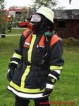 Atemschutzgeräteträger Christoph Baier vor seinen Einsatz!